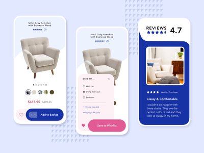 Mobile Ecommerce Product Page Concept product page ui interface ux e-commerce ecommerce