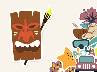 Hawaii Conference iOS Sticker Pack icons stickers ios