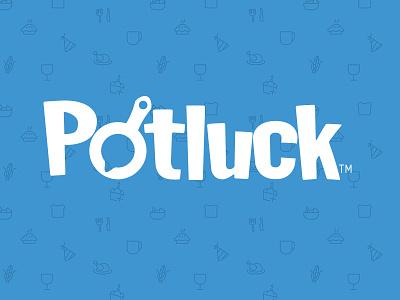Potluck branding logo design web app app startup potluck