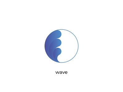 wave wavey water logo design typography blue wave wordmark logotype branding minimal logodesign creative
