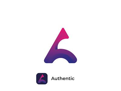 A letter logo / modern A logo logo folio modern logo logo design graphic design illustrator letter logo a logo authentic typography wordmark brand identity logotype branding minimal creative
