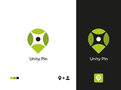 PIN LOGO DESIGN / UNITY PIN LOGO DESIGN greenlogo logobranding logobrand logoconcept unity logo unity pin logo brand identity creative logosai logonew logoinspirations logodesigne logotype logos logo design logo