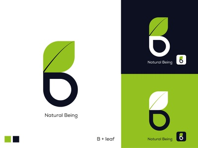 Natural Beign Logo /Natural logo brand identity branding minimal black and white green logo leaf logo natural logo logopassion logoconcept logobrand logodaily logomaker logoinspirations logodesigner logotype logo design logo