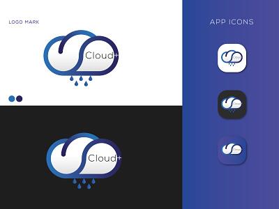 cloud+ design logotype branding illustrator creative logo cloud logo design minimal brand identity