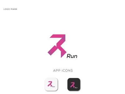 run logotype branding graphic design 99design minimal athletic run r logo logodesign creative brand identity