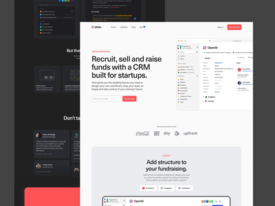 Landing Pages - Solutions relationship collaboration website design marketing site light mode dark mode light dark product crm