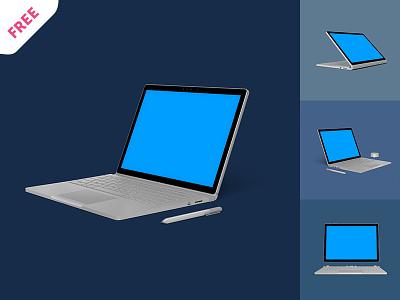 Free Surface Book Mockup hi-res free book surface mockup