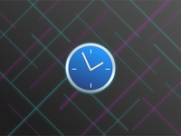 Neon Clock Icon