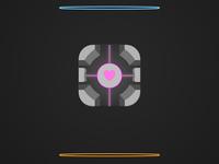 Portal Companion Cube App Icon