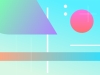 Random shapes and gradients