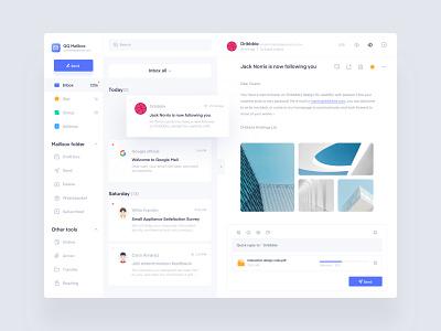QQ mailbox redesign icon web ux ui inbox mailbox