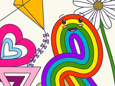 Pride 2020 lgbtq pride 2020 pride month equality love illustration rainbow pride