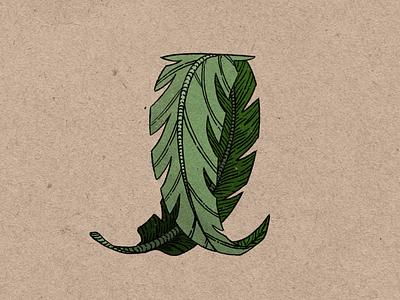 Turn a New Leaf texture plants procreate botanical leaf plant illustration