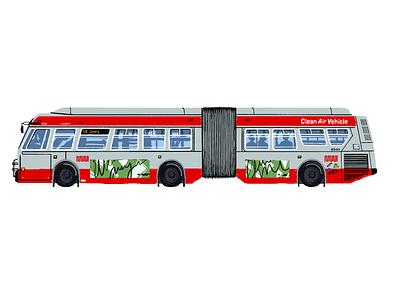 38 Muni illustration procreate public transportation san francisco muni bus
