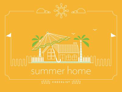 Summer Home Checklist Artwork