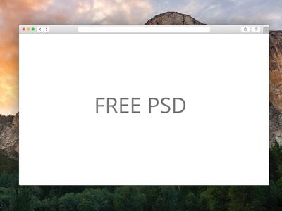 Free Safari Window PSD!