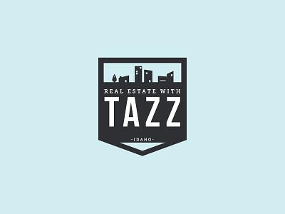 Real Estate with Tazz  |  Logo logo illustration design graphic design logo design bebas neue black and white badge real estate branding