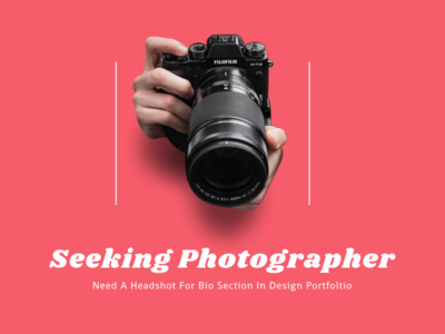 Seeking Photographer Poster