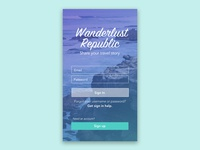Travel App: Login Screen Concept