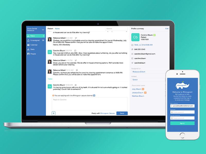 Healthcare Communication App app design mobile graphic design visual design user interface user experience