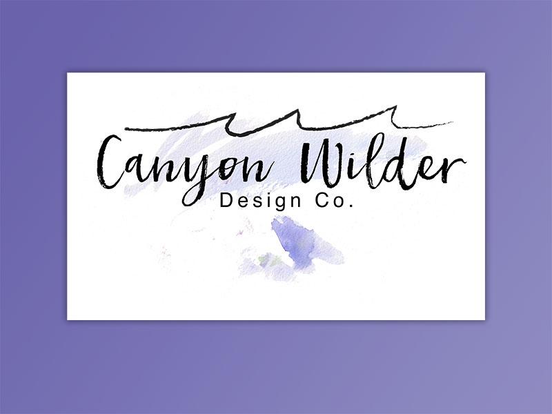 Canyon Wilder Branding typography watercolor illustration lettering logo design branding identity design visual design