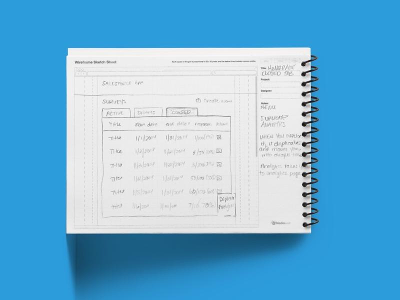 Survey Engine Concept wireframing sketching brainstorming user experience design saas salesforce