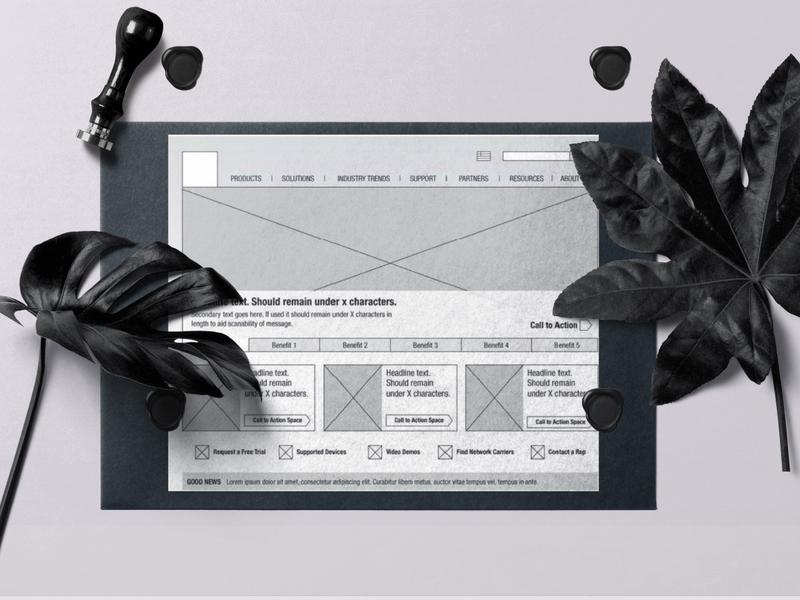 Good Homepage Redesign wireframing sketching brainstorming user experience design web marketing site