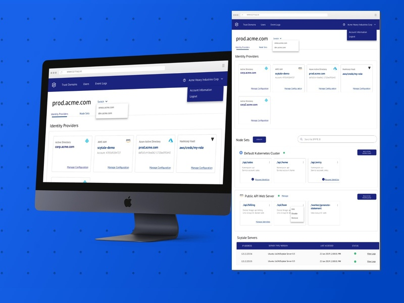 Scytale Enterprise: Dashboard sketching wireframing brainstorming user experience design software as a service