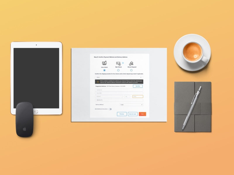 Terminations: Final Pay software as a service sketching wireframing brainstorming user experience design