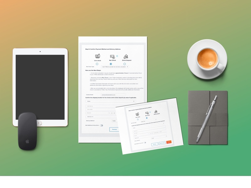Terminations: Net Check software as a service sketching wireframing brainstorming user experience design