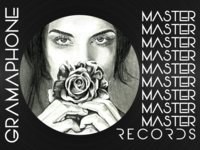 Design for MASTER RECORDS (Gramophone Record Disk)