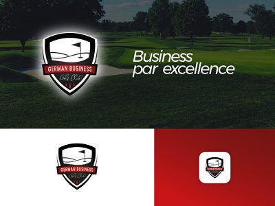 German Business Golf Club Logo germany bonn cologne qalu golf club golf icon logodesign badge logo logo corporate design design branding