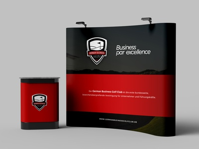 German Business Golf Club Exhibition Booth Design