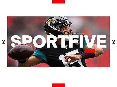 SportsFive visual identity logo typography web design branding creative director