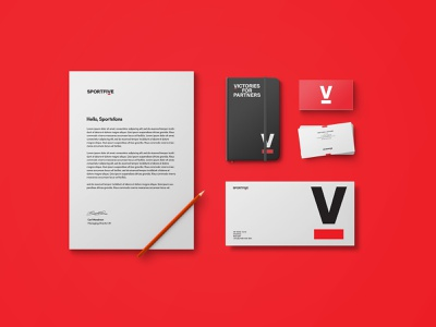 SportsFive visual identity typography design lettering stationery logo branding creative director