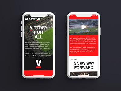 SportsFive visual identity branding web design mobile website ui ux creative director