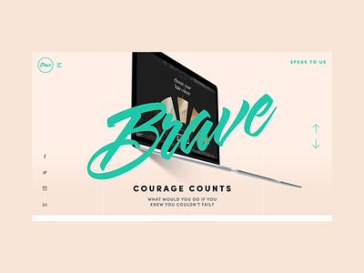 Design concepts for agency Brave.co.uk typography logo design ui ux branding website creative director