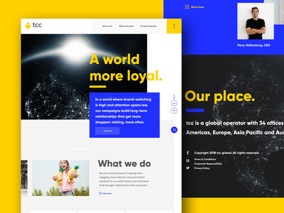 TCC brand site concept typography illustration logo branding web website ui design ux creative director