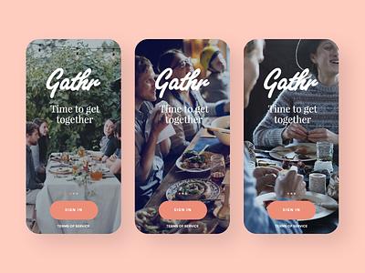 Gathr dating branding app creative director mobile ux design ui