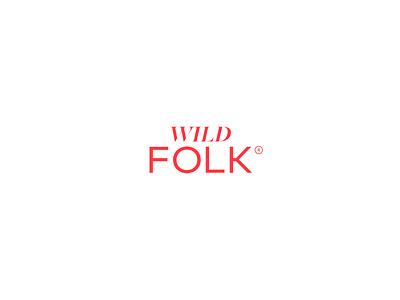 Wild Folk Logo icon typography vector logo branding creative director