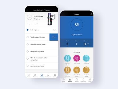 Dyson Retail Academy app dyson experience branding ui website ux design illustration creative director