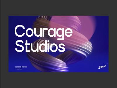 Courage Studios | Brave typography logo branding design creative director