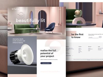 Orluna web ui ux design logo website branding creative director