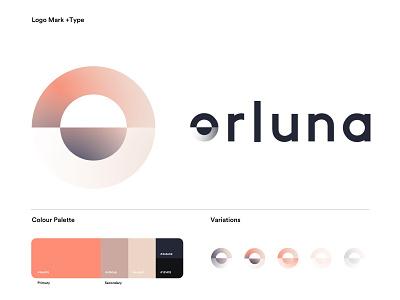 Orluna illustration typography icon design vector logo branding creative director