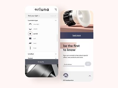 Orluna animation website design ux ui mobile web creative director