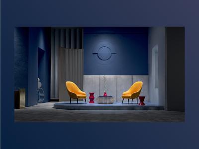 Orluna website branding design interior 3d cgi creative director