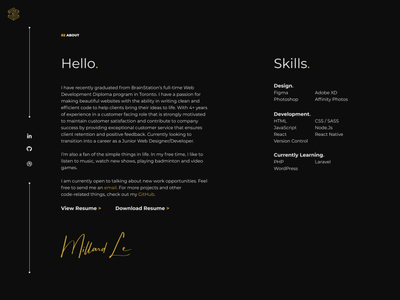 Personal Portfolio portfolio gallery web ui design