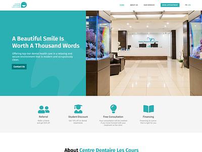 Dentist Home Page desktop dentist ux web ui design