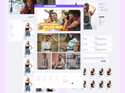 Online Clothing Store store clothing web ui design
