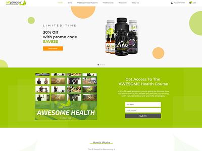 biOptimizers Design Concept desktop web ui design